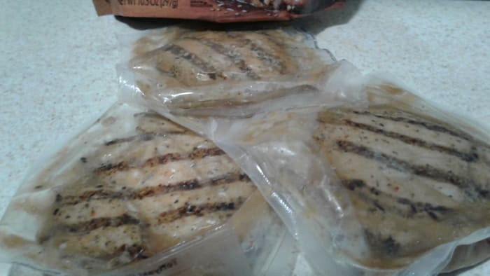 There are three breasts in each packet - each individually wrapped