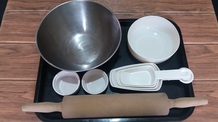 utensils needed for making yeast free flatbread