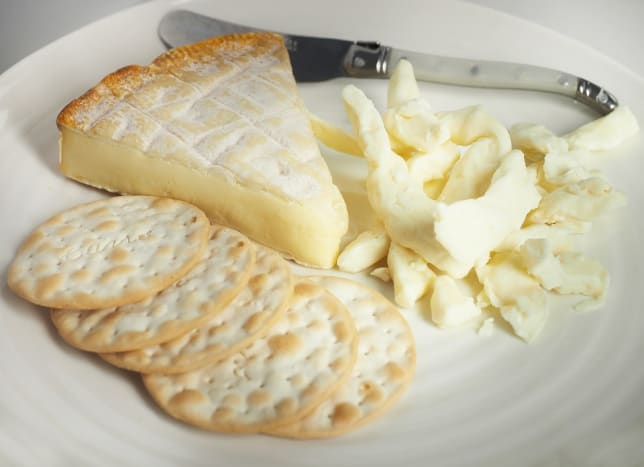 Soft Brie cheese and curds.