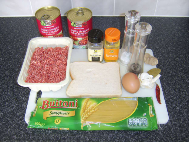 Curried Spaghetti Meatballs Ingredients