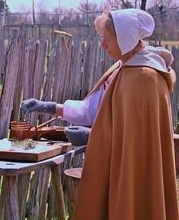 At historic St. Mary's City in Southern Maryland, a historical reenactor prepares candied rosemary using the recipe to your left.