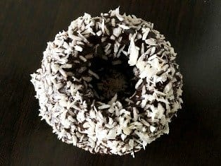 Donut Topped With Coconut Flakes