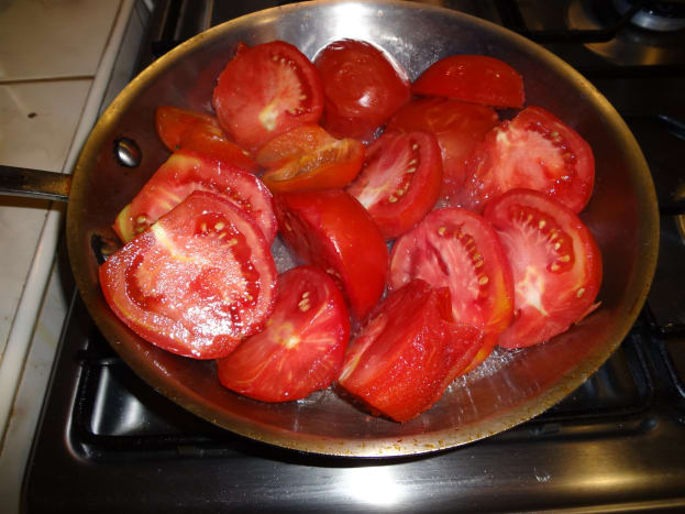Prep the tomatoes