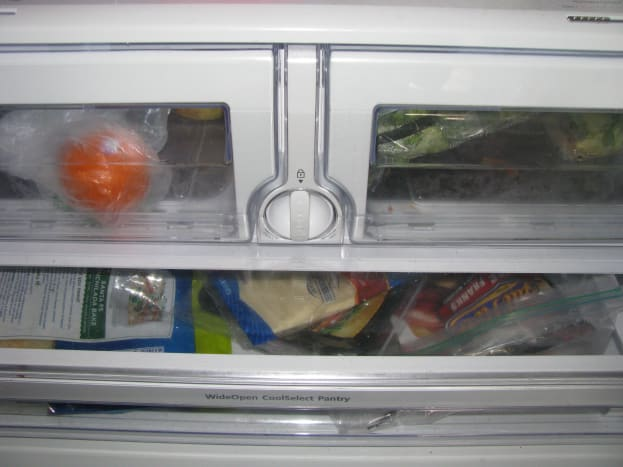 The crisper drawers in my Samsung refrigerator are directly above the deli drawer.