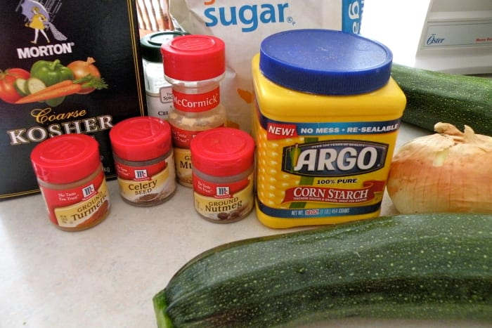 Ingredients for the relish.