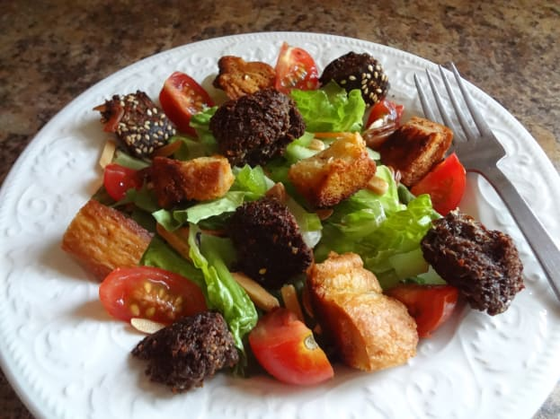 Crouton make a great salad topper for added crunch.