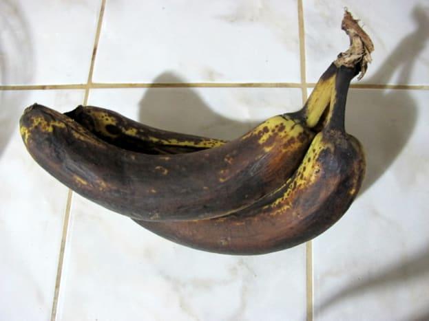 Ugly bananas make moist banana bread.