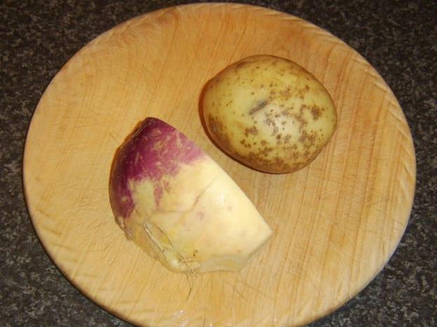 Potato and Swede turnip/rutabaga