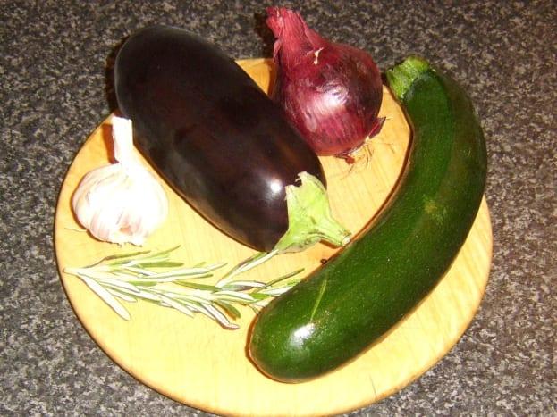 Mediterranean vegetables for roasting