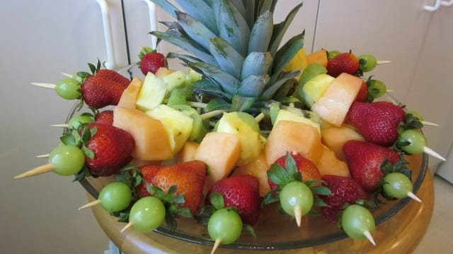 A fancy platter makes an attractive centerpiece for your table.