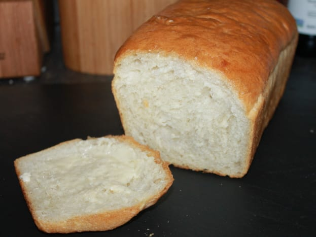 Homemade White Sandwich Bread with a beautiful consistency!