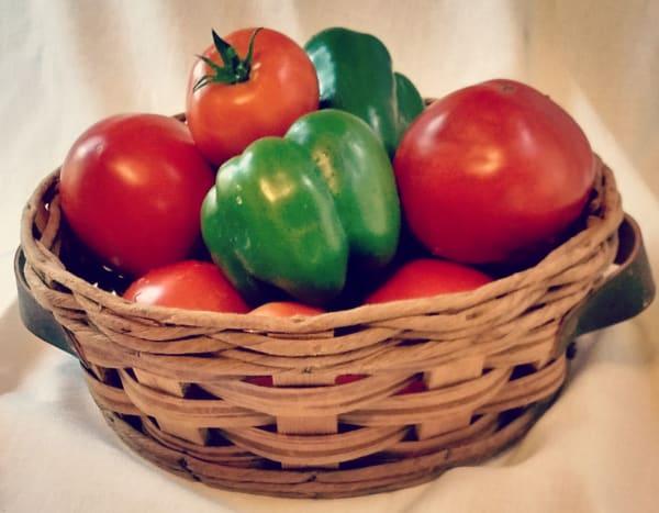 Fresh picked garden veggies!