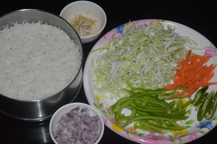 ingredients kept ready