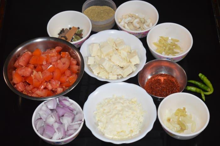 Step one: Keep ingredients ready.