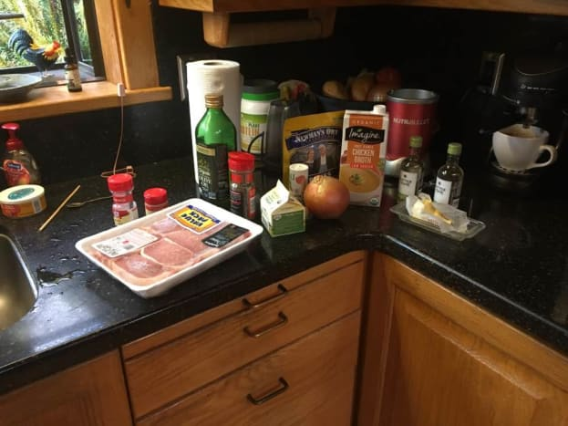 A selection of ingredients laid out beforehand.