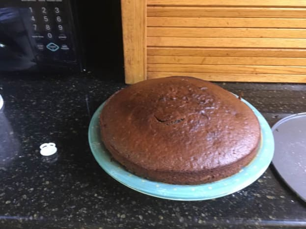 The cake, without cream.