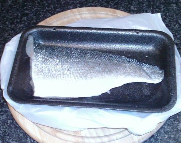 Fresh sea bass fillet
