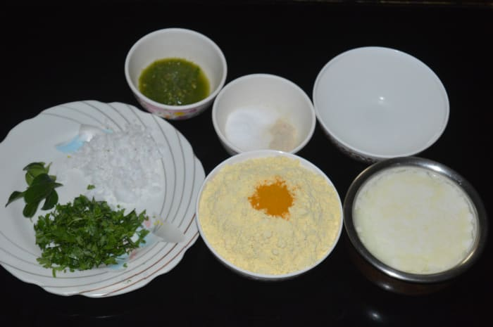 Step one: Have the ingredients ready.