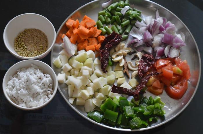 Step one: Keep the ingredients handy