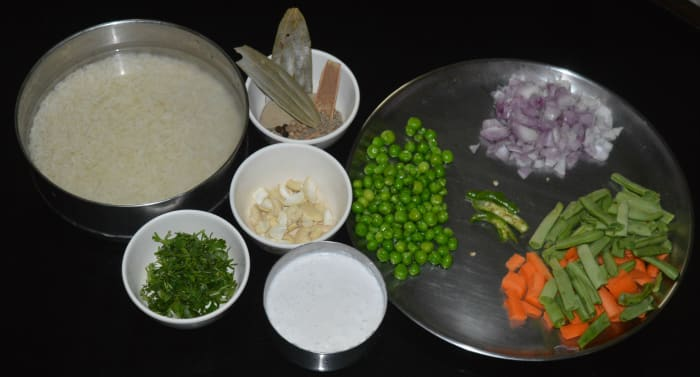 Step one: Gather all the ingredients.