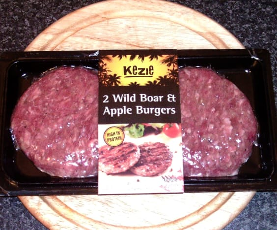 Wild boar and apple burgers