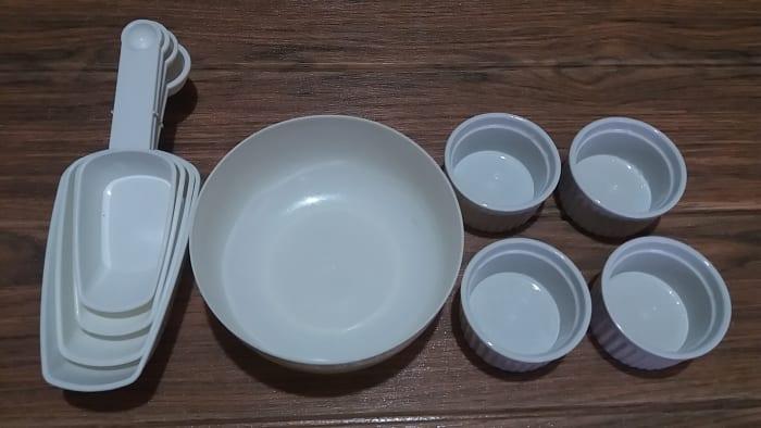 utensils in preparing the sweet soy sauce