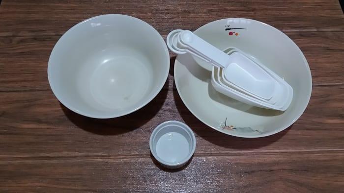 utensils in measuring ingredients
