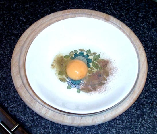 Cinnamon and cumin are added to egg