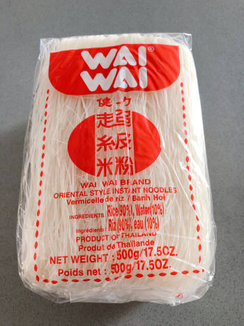 A packet of rice vermicelli noodles.