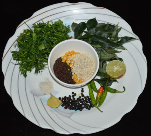 Ingredients for making Instant Upma Mix