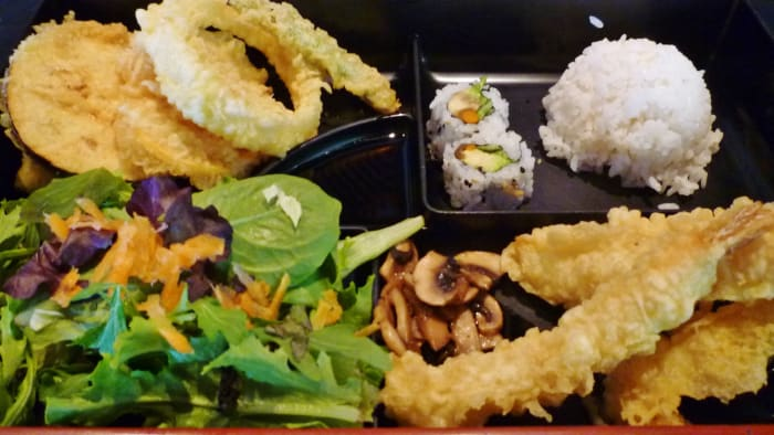 Shrimp tempura bento box