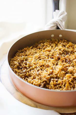 Lebanese Lentils and Rice (Mujadara)