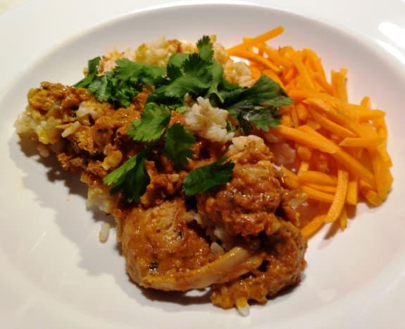 A perfect plate of chicken tikka masala