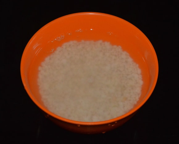 Step one: Wash urad dal and soak it in fresh water for 2–3 hours.