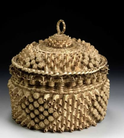 Marriage Basket: museum purchase made possible by Ralph Cross Johnson, 1986.65.67A-B.