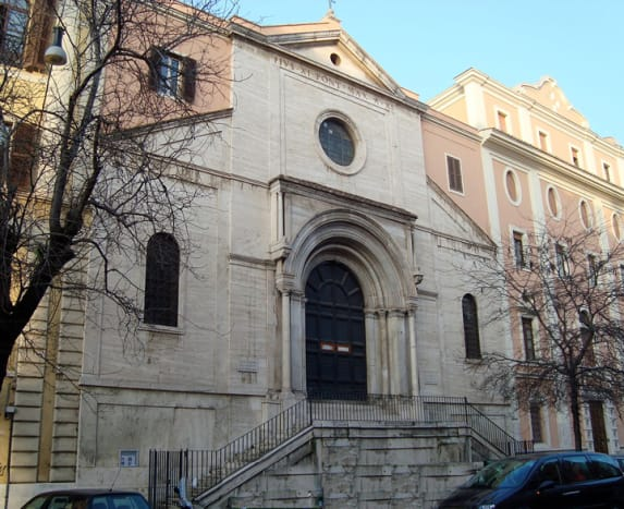 The Camadolese monastery of Sant' Antonio Abate in Rome, where Sr. Nazarena lived first as a novice and later as an anchoress.