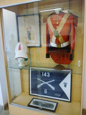 Display case in the Buffalo Soldiers National Museum