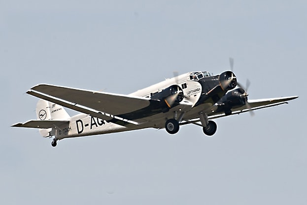Junkers JU-52. This legendary and versatile transport plane first flew in 1931, but later became a staple of the Luftwaffe, Hitler's own personal plane was a JU-52. And Eric Brown once piloted this plane (though not with Adolf as a passenger!)