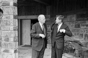 President Kennedy at the Kerr Ranch
