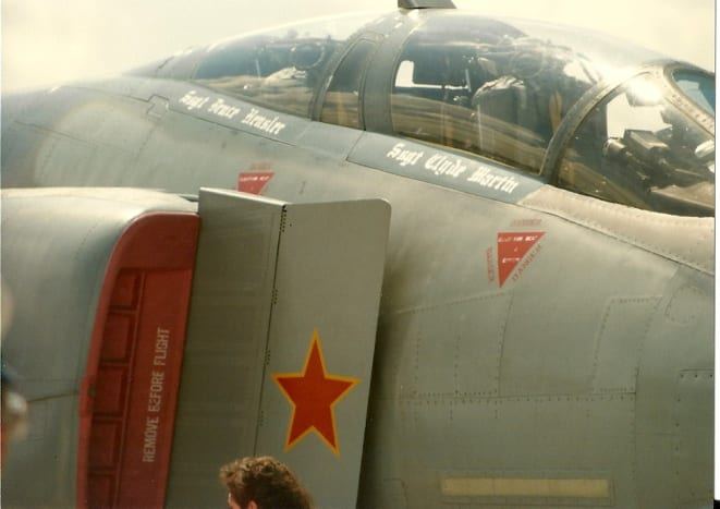 A MiG killer F-4.  The Red Star indicates its kill during the Vietnam Conflict.