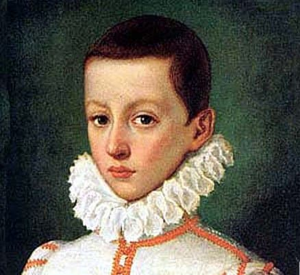 St. Aloysius at five years of age