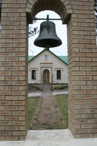 Nogaga's Bell in in the arch. Photo Tony McGregor, August 2011
