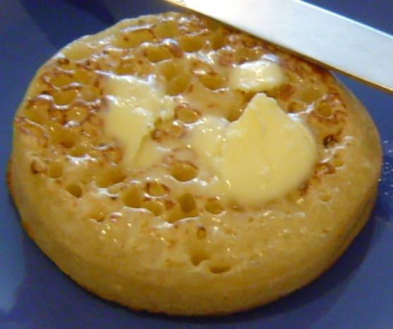 Hot buttered crumpet.