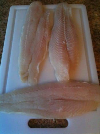Flounder fillets.