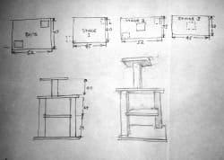 Here are some of our initial plans for our cat tower.