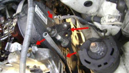 Side motor mount.