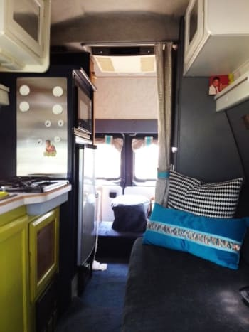 A calm, spa-like feel transforms the van into a spa-worthy retreat with the DIY techniques described below!