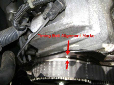 S.  Marking or painting the camshaft pulley along with the timing belt