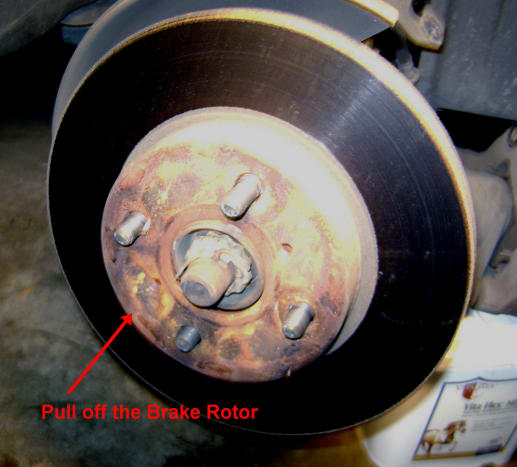 D.  Pull off the brake rotor