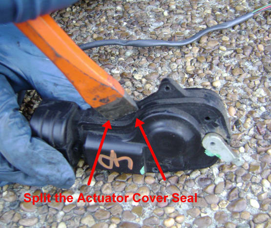 Opening the Cover on the Toyota Camry Door Lock Actuator Cover